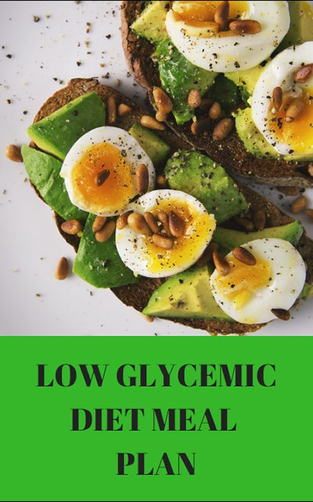 Low Glycemic Meal Plan